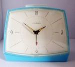 Ruhla Blue Plastic Trapezoid Alarm Clock